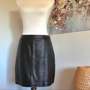 Trouve Genuine Leather Mini Skirt